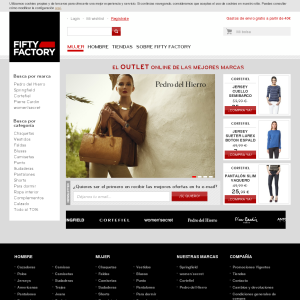 codigo promocional fifty factory